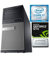 .DELL Gamer 7010DT Intel®Core™i7-3770 3.9GHz 8GB RAM 128GB SSD Nvidia GTx1050Ti 4GB Windows 7/10 Pro