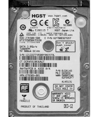 "Hitachi HDD Z7K320-320 2.5"" 320GB 7200 RPM 7mm THIN pevný disk"