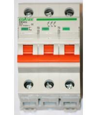 EBASEE EBS6G-63 63A 3Fázový Hlavný vypínač bez charakteristiky