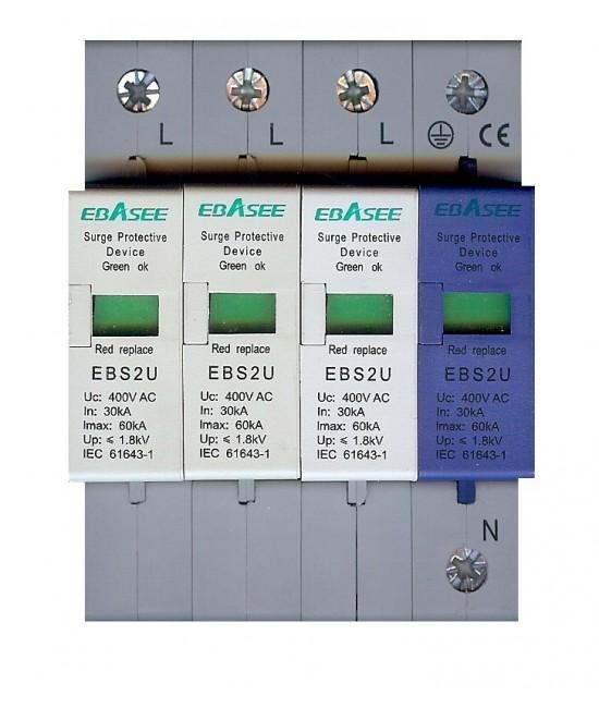 EBASEE EBS2U Zvodič bleskových prúdov a prepätia T2+T3 (C+D) 30-60kA 3P+NPE