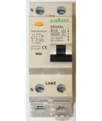 Prúdový chránič 2Pólový Ebasee B10A 30mA 1P+N