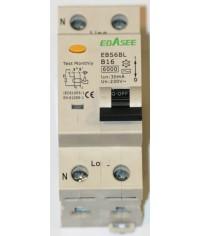 Prúdový chránič 2Pólový Ebasee B16A 30mA 1P+N