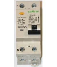 Prúdový chránič 2Pólový Ebasee B25A 30mA 1P+N