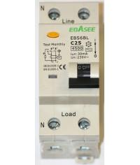 Prúdový chránič 2Pólový Ebasee C25A 30mA 1P+N