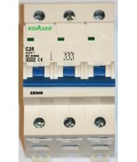 EBASEE EBS6B-63 C25A 3P 6kA